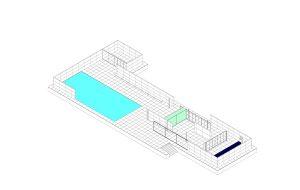 7 Barcelona Pavilion: isometric