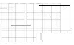 8 Barcelona Pavilion: part of floor plan