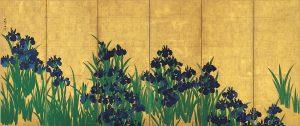 2 尾形光琳『燕子花屏風図』左隻